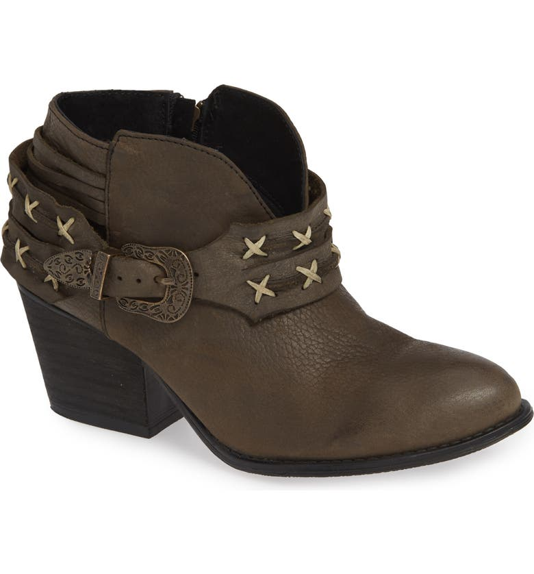 VERY VOLATILE Vesey Bootie, Main, color, CHARCOAL LEATHER