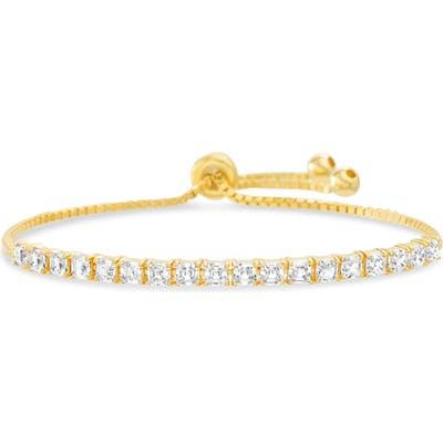 Lesa Michele Cubic Zirconia Tennis Slider Bracelet