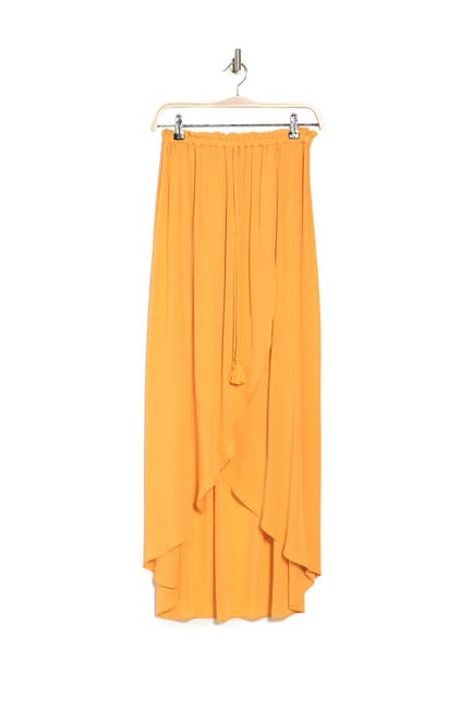 Image of 1.State Wrap Front Crinkle Gauze Skirt