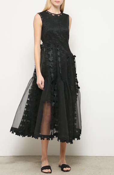Double Layer Cascade Organza Midi Dress, video thumbnail