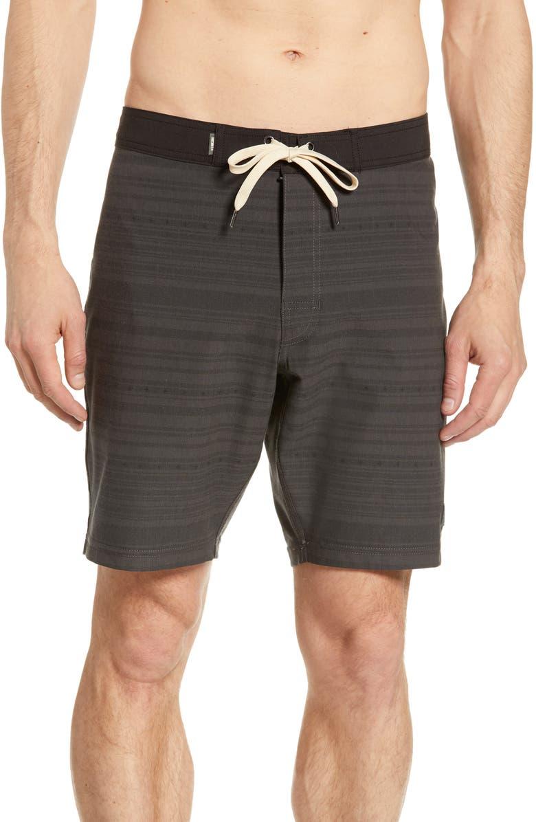 LINKSOUL Stripe Board Shorts, Main, color, 001