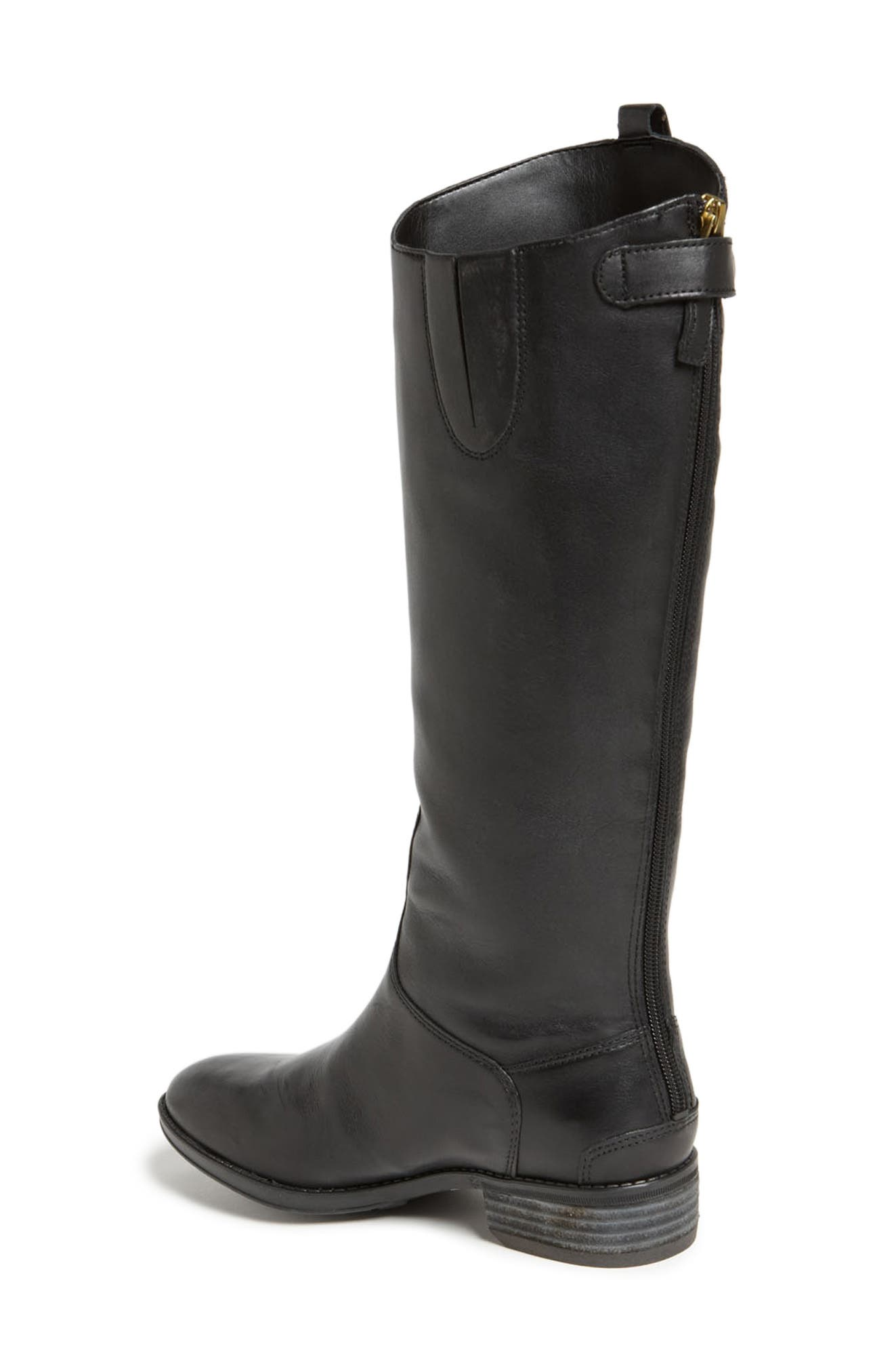 ,                             Penny Boot,                             Alternate thumbnail 2, color,                             BLACK WIDE CALF
