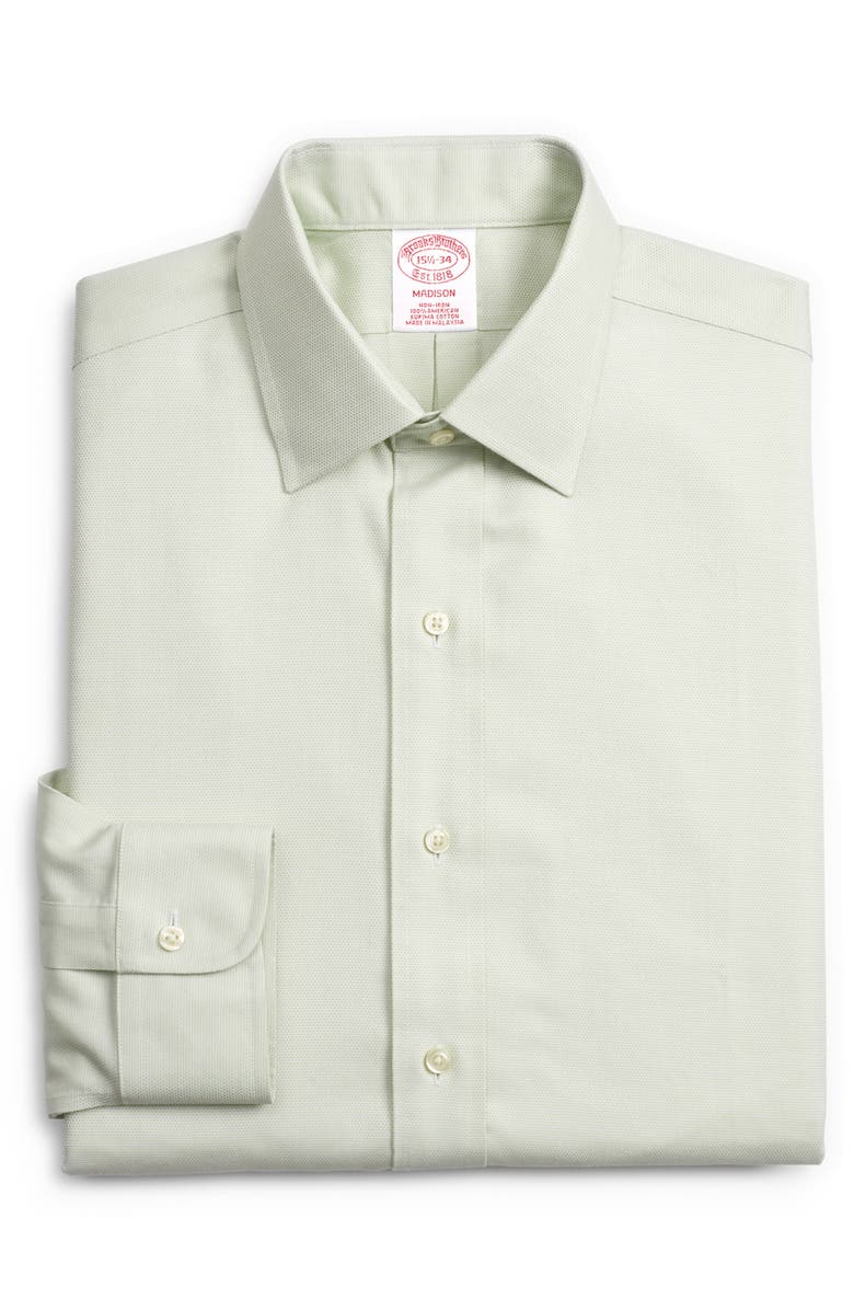 BROOKS BROTHERS Madison Classic Fit Print Dress Shirt, Main, color, GREEN