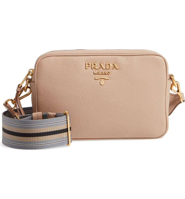 1faa08d57 Vitello Daino Leather Camera Bag, Main, color, CAMMEO