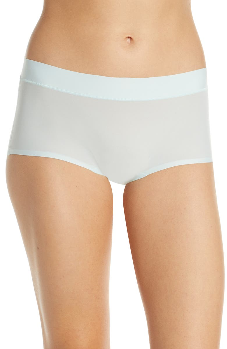 CHANTELLE LINGERIE Chantelle Intimates Soft Stretch Seamless Boyshorts, Main, color, CRYSTAL BLUE