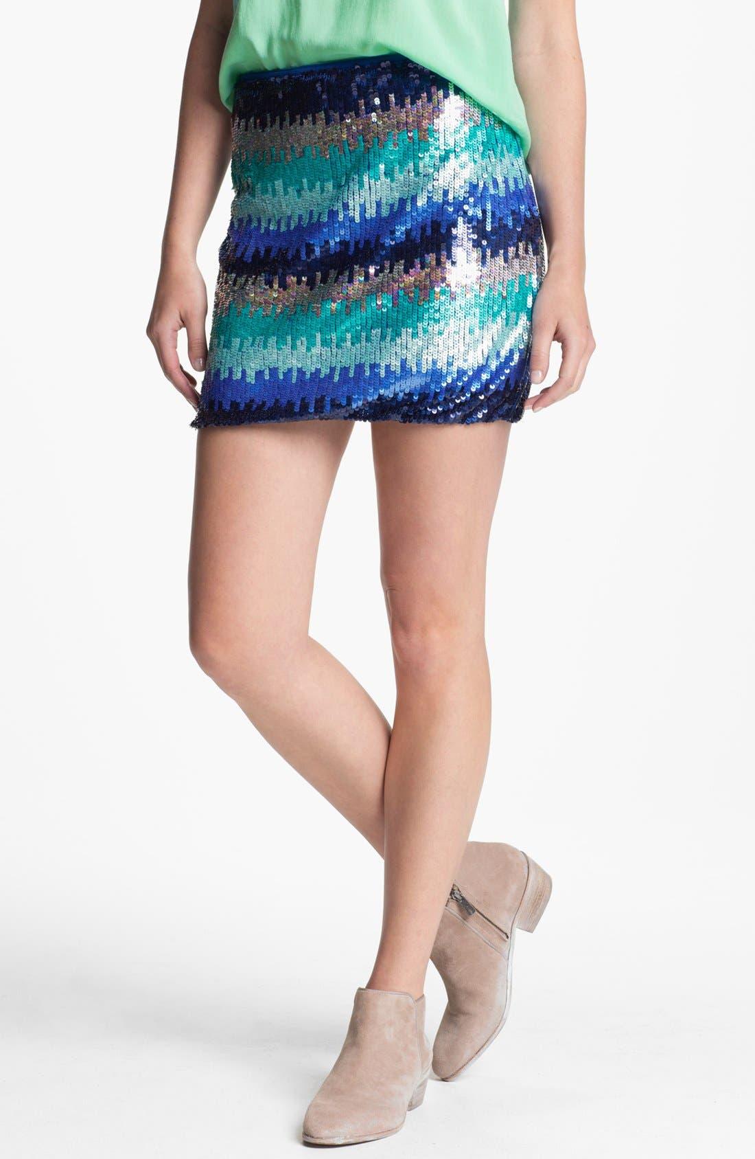 ,                             Sequin Skirt,                             Main thumbnail 1, color,                             400