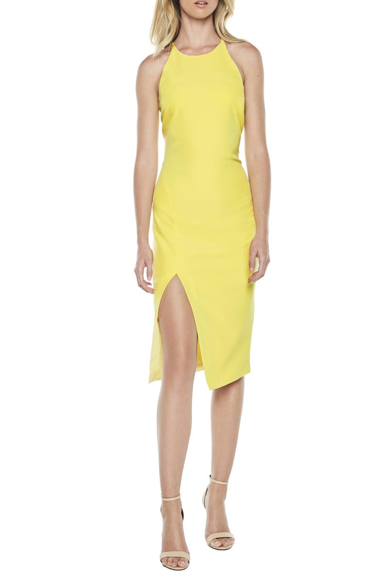 Vera Open Back Halter Dress by Bardot