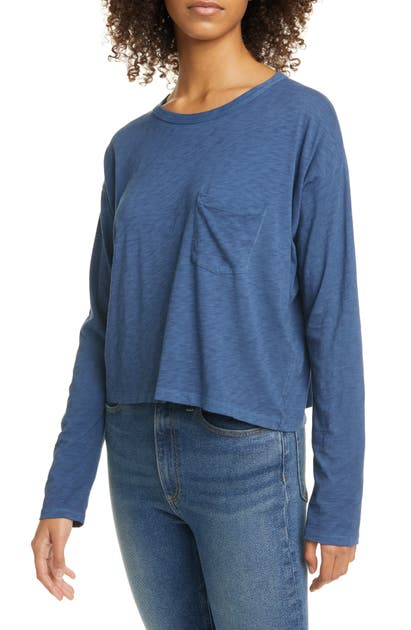 Rag & Bone Tops CROP LONG SLEEVE TEE