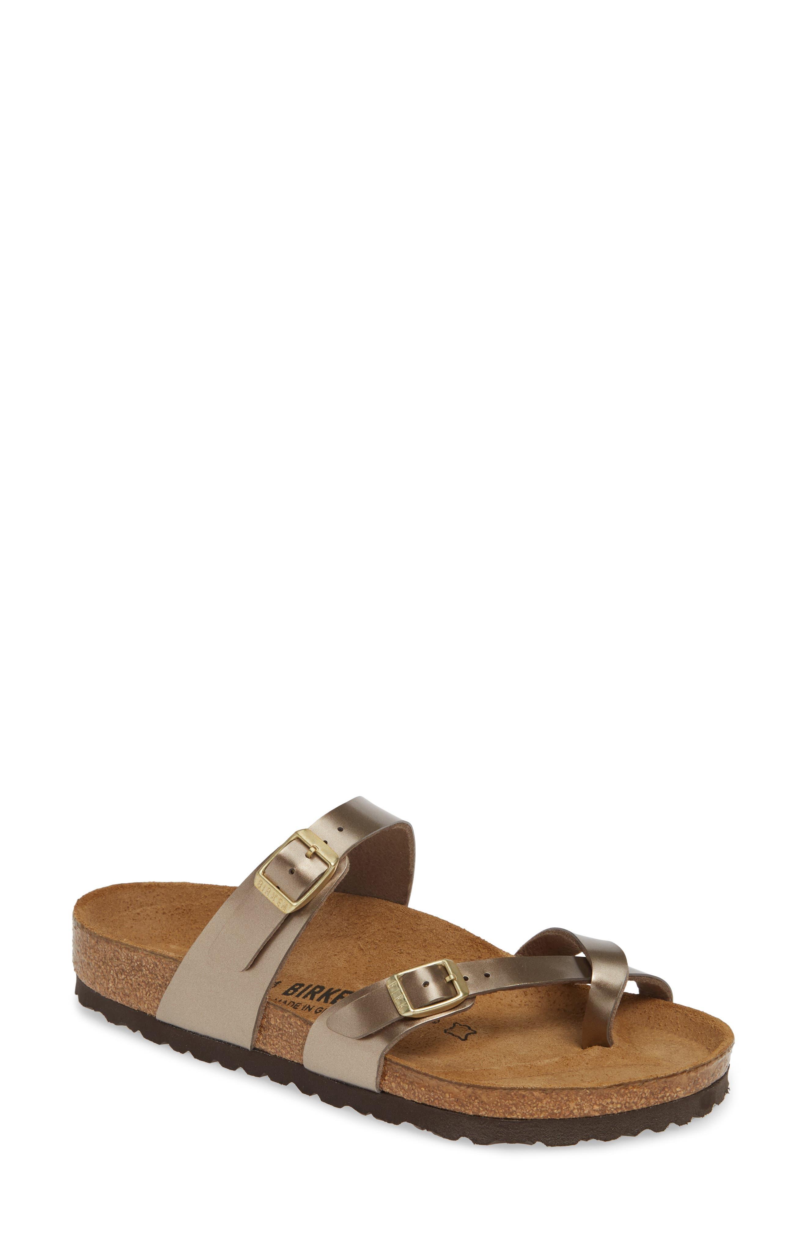 Mayari Slide Sandal, Main, color, ELECTRIC METALLIC TAUPE