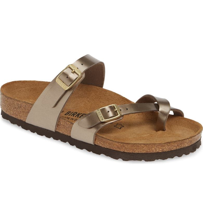 BIRKENSTOCK Mayari Slide Sandal, Main, color, ELECTRIC METALLIC TAUPE