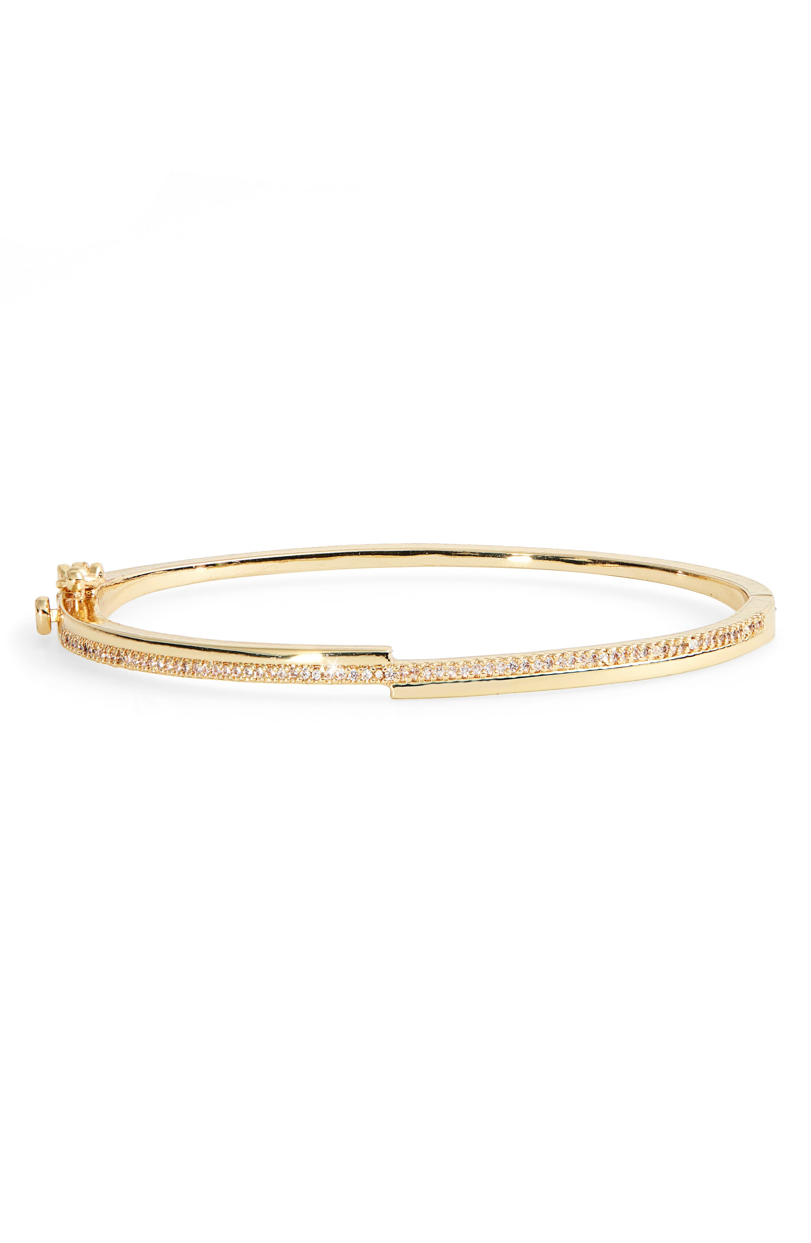 Pave cubic zirconia bring elegant sparkle to a slender bangle. Style Name: Nordstrom Split Pave Bangle. Style Number: 6016817. Available in stores.