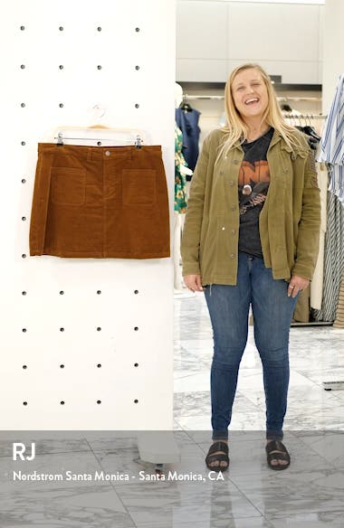 High Waist Corduroy Miniskirt, sales video thumbnail