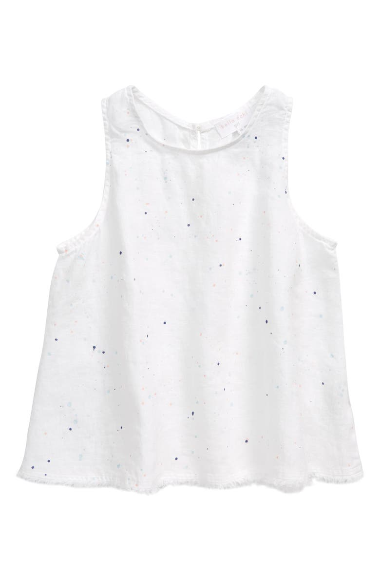 BELLA DAHL Splatter Print Linen Top, Main, color, 100