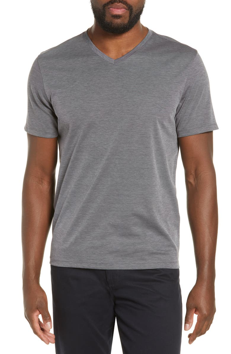 ZACHARY PRELL Brookville Regular Fit Piqué T-Shirt, Main, color, CHARCOAL
