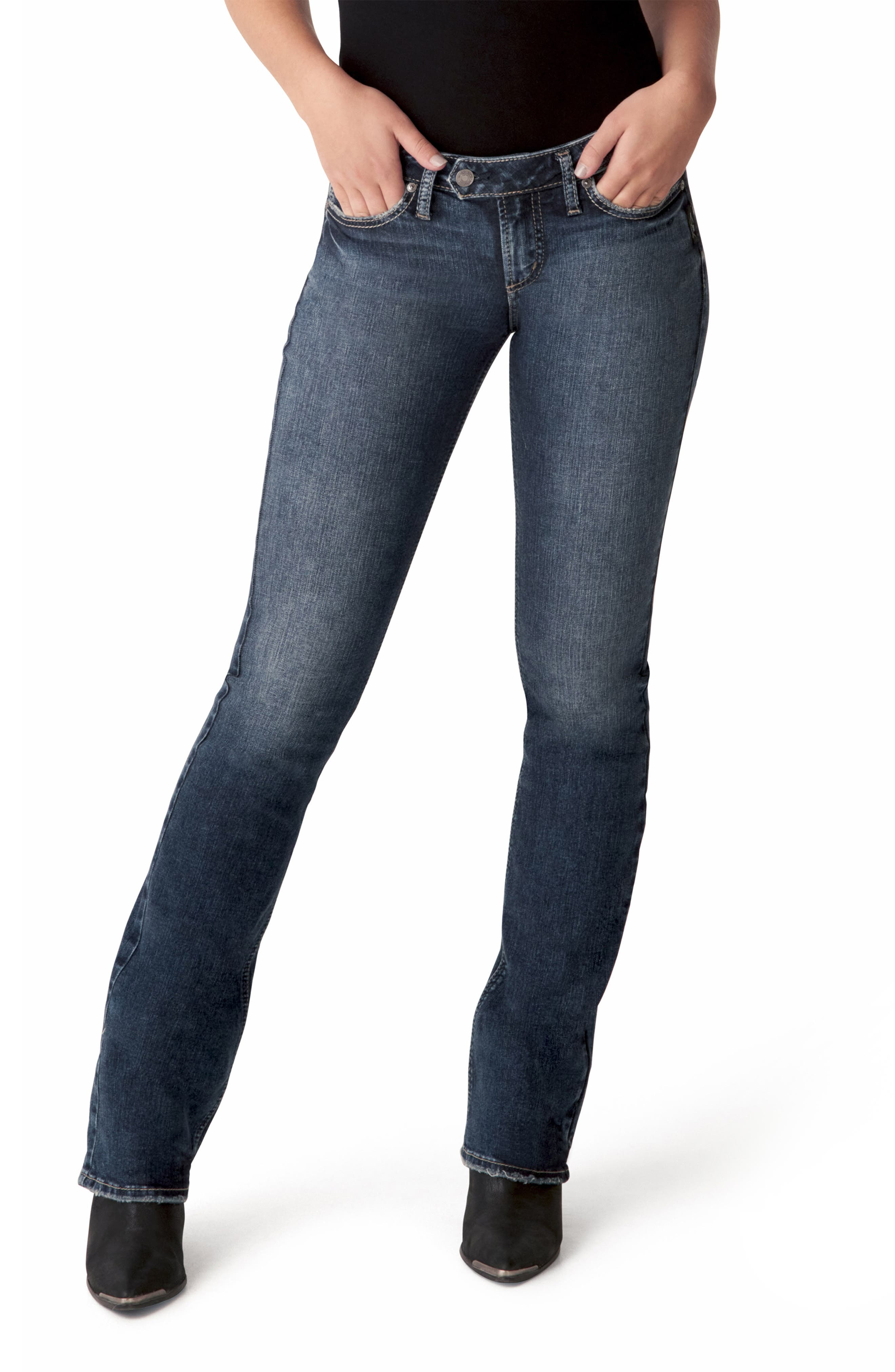 Women's Silver Jeans Co. Tuesday Low Rise Slim Bootcut Jeans