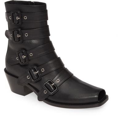 Burberry Albertina Buckle Moto Bootie - Black