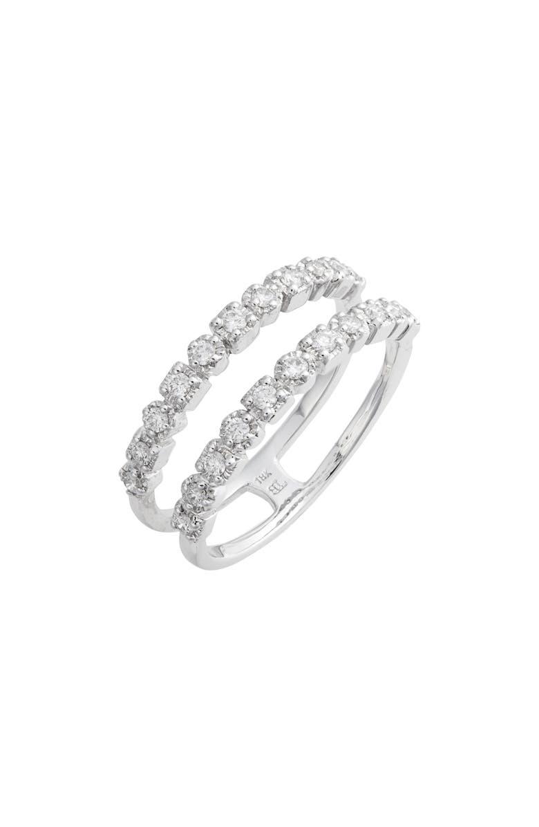 BONY LEVY Maya Two-Row Diamond Ring, Main, color, WHITE GOLD/ DIAMOND