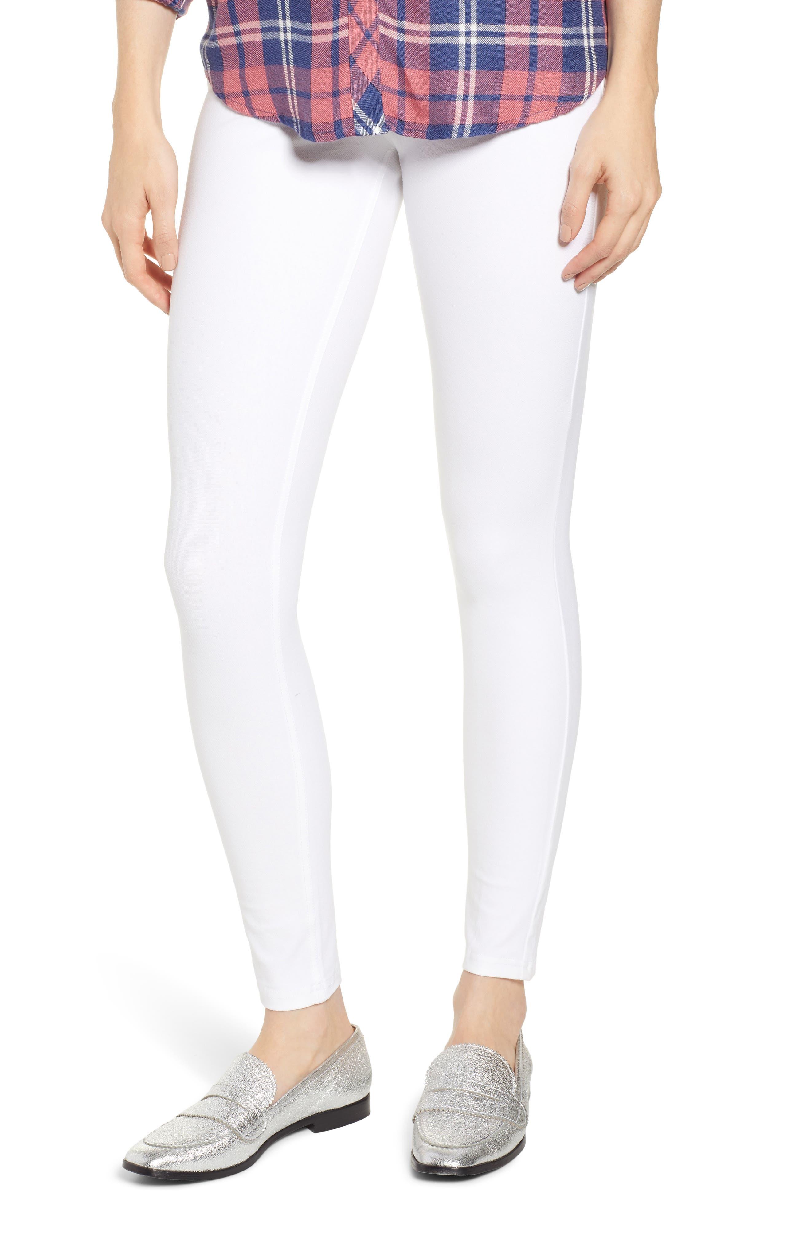 Plus Size Hue Essential Denim Leggings, White