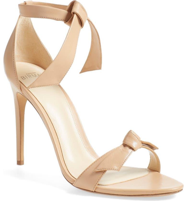 ALEXANDRE BIRMAN 'Clarita' Ankle Tie Sandal, Main, color, NUDE SOFT LEATHER