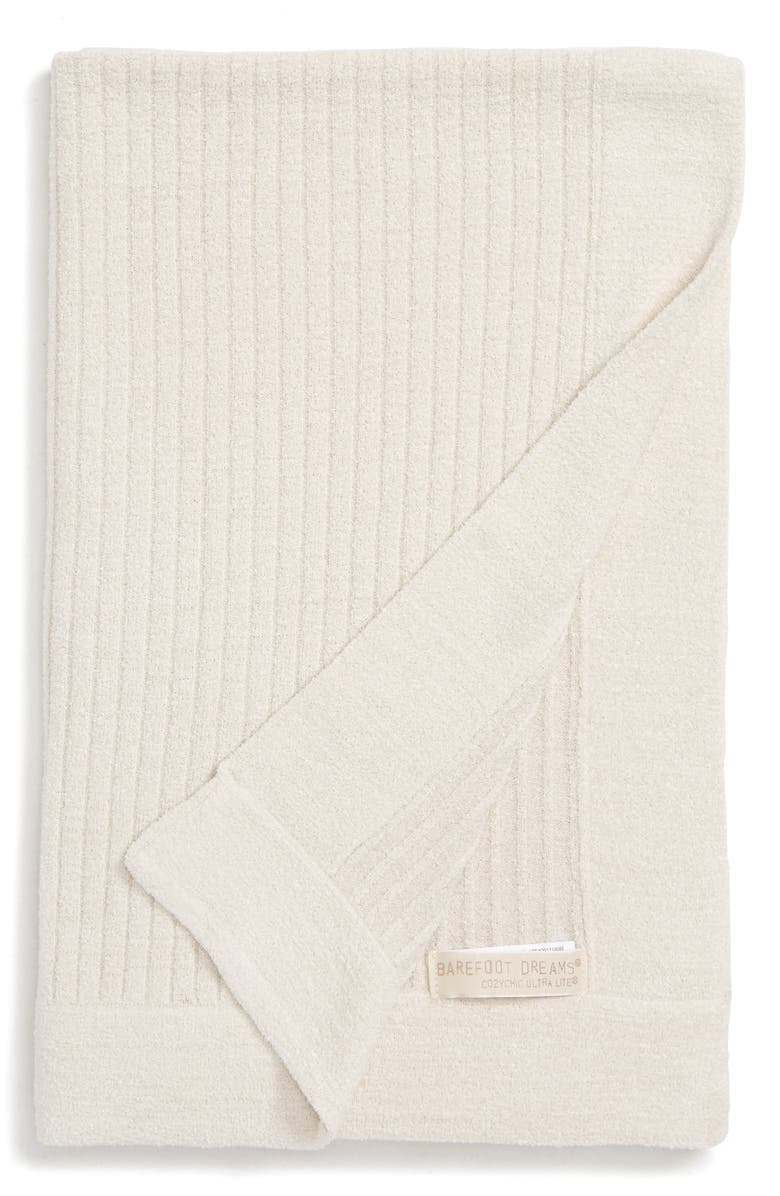 BAREFOOT DREAMS<SUP>®</SUP> Cozychic<sup>®</sup> Ultra Lite Ribbed Blanket, Main, color, SAND DUNE