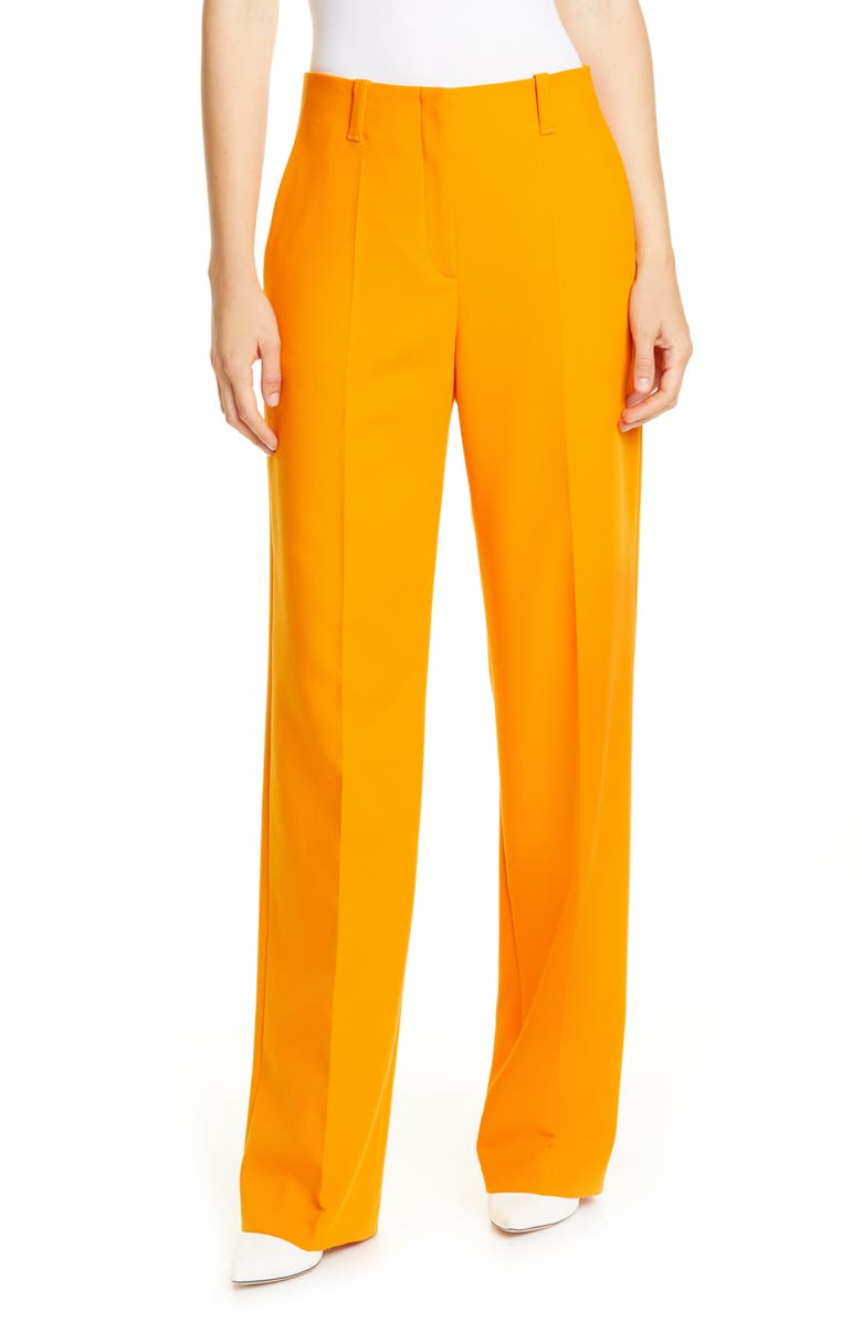 HUGO Hulana Suit Pants, Main, color, CHROME ORANGE