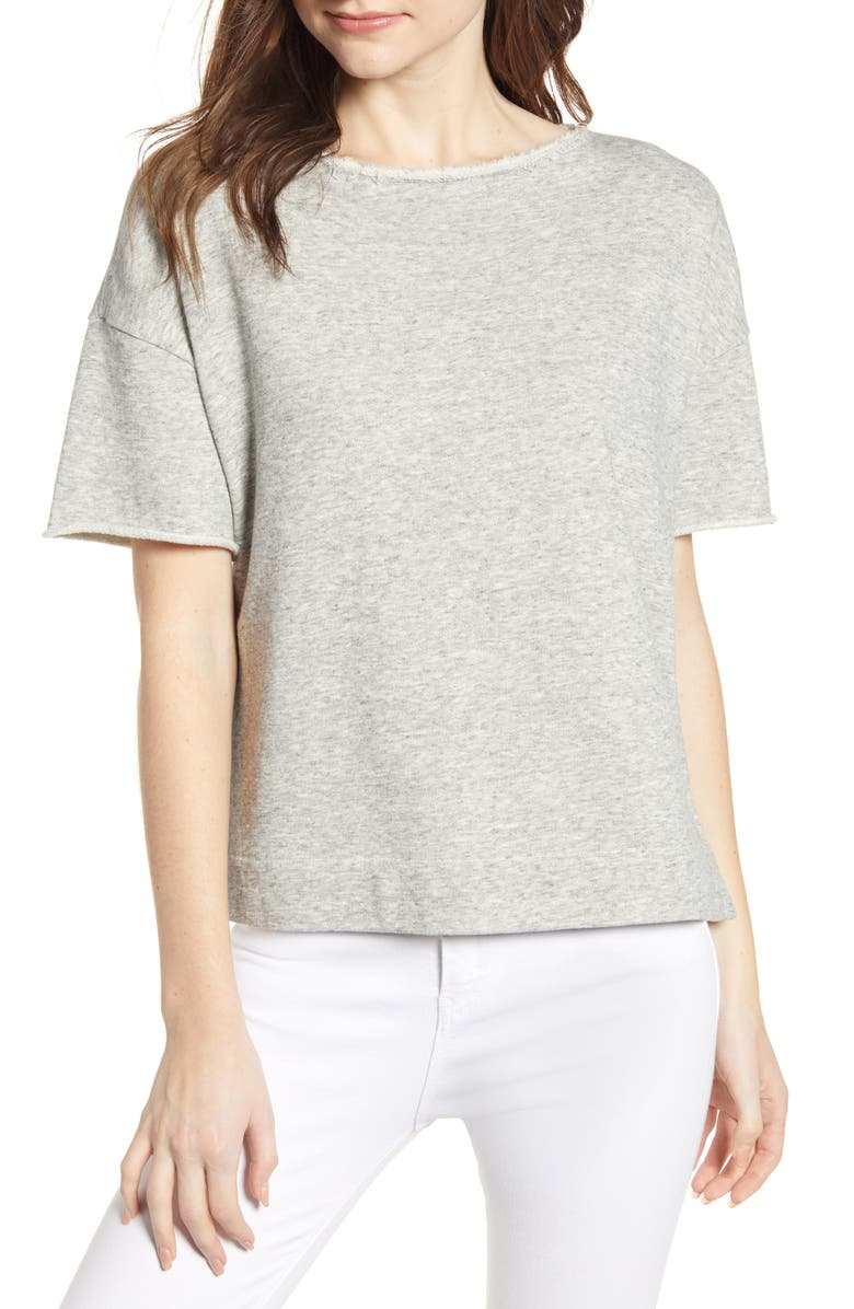 ALEX MILL Heather Boatneck Tee, Main, color, 060