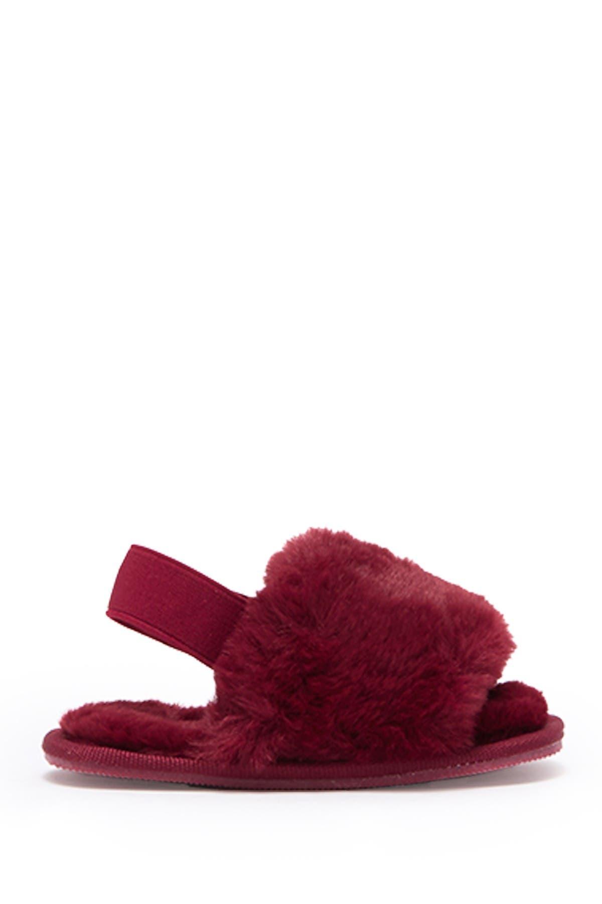 Top Moda Mel Faux Fur Slipper