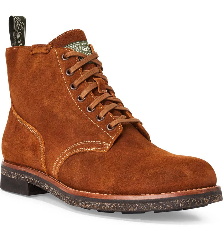 POLO RALPH LAUREN RL Army Boot, Main, color, POLO SNUFF SUEDE