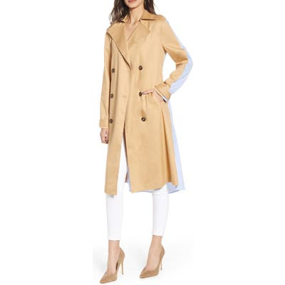 English Factory Combo Trench Coat, Beige
