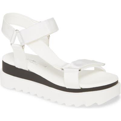 Charles David Rikki Platform Sandal, White