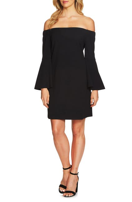 Image of CeCe by Cynthia Steffe Hadley Off-the-Shoulder Bell Sleeve Dress