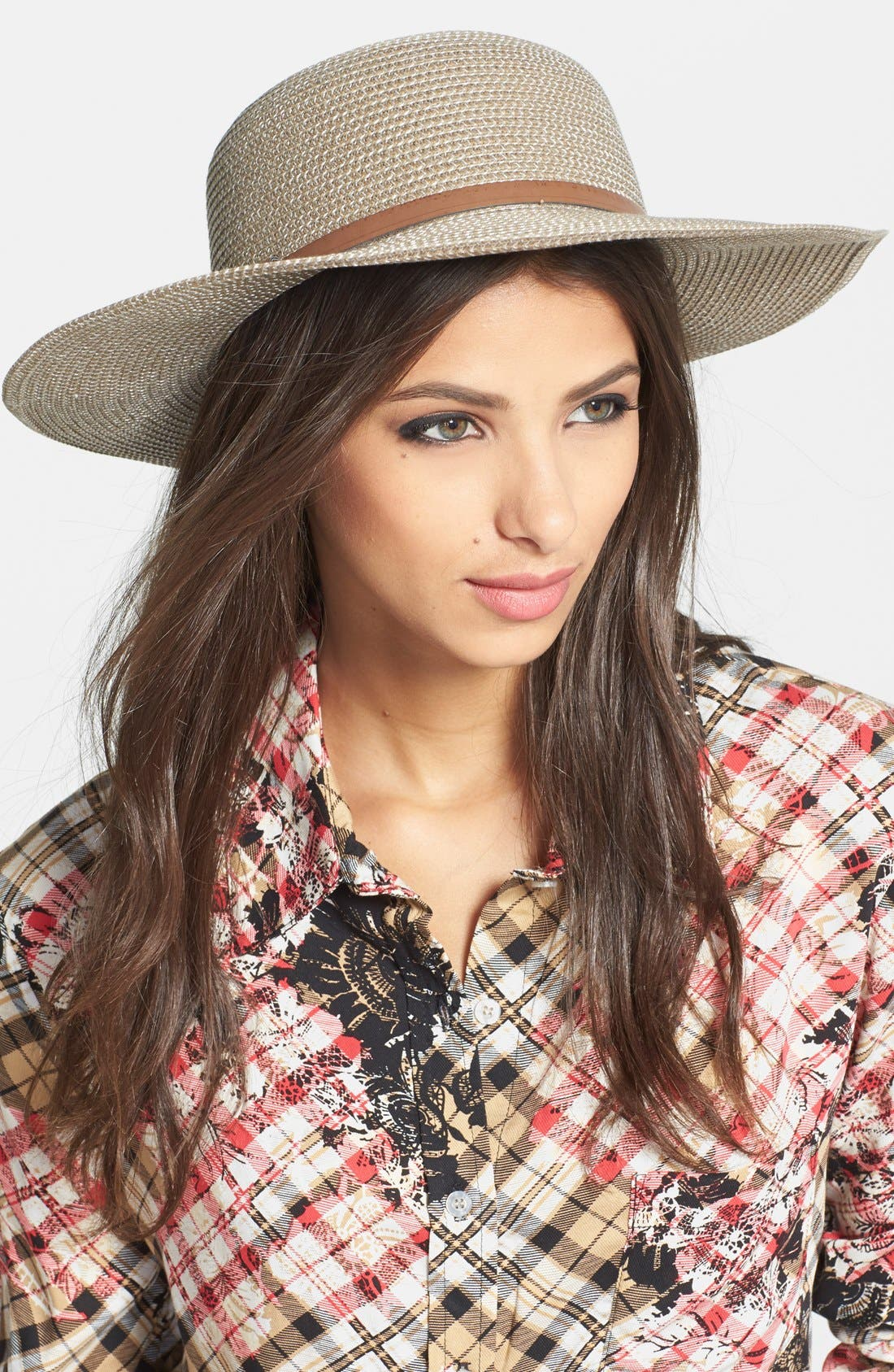 ,                             Straw Floppy Hat,                             Main thumbnail 8, color,                             200
