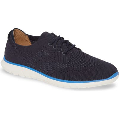 Hush Puppies Tricia Wingtip Knit Sneaker- Blue