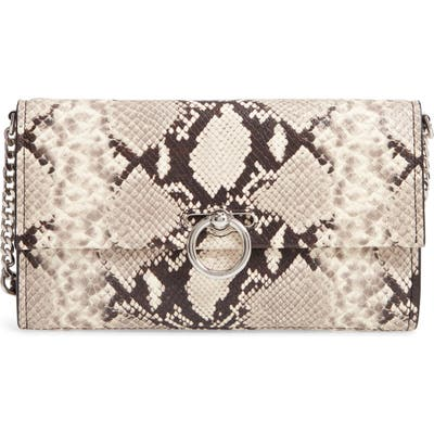 Rebecca Minkoff Jean Snake Embossed Leather Clutch - White