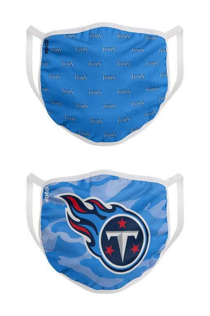 Image of FOCO NFL Tennessee Titans Clutch Printed Face Cover - Pack of 2