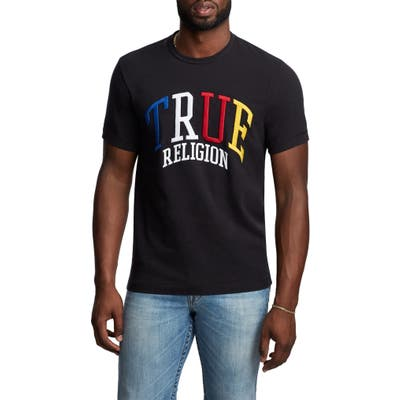 True Religion Brand Jeans Embroidered Logo T-Shirt, Black