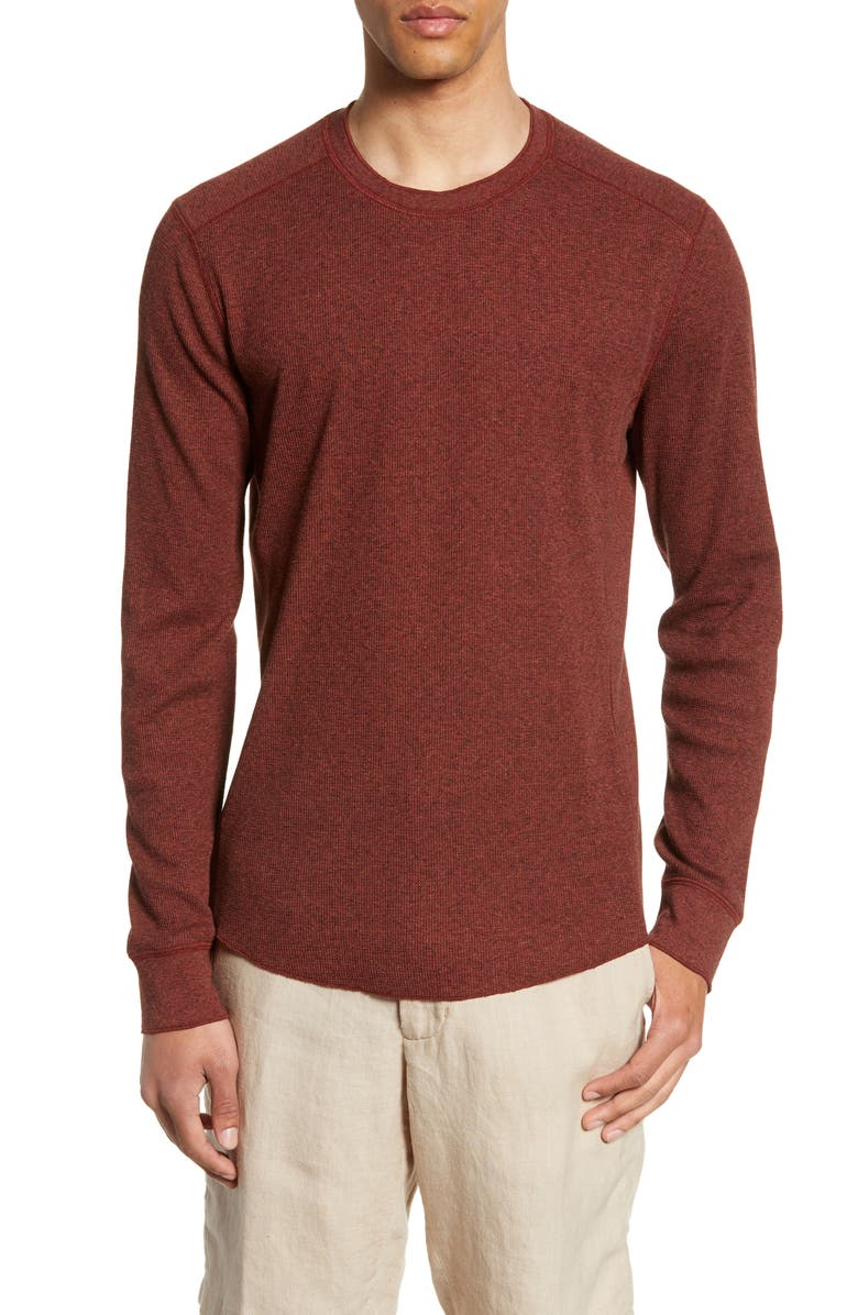 VINCE Slim Fit Waffle Knit Long Sleeve T-Shirt, Main, color, 645
