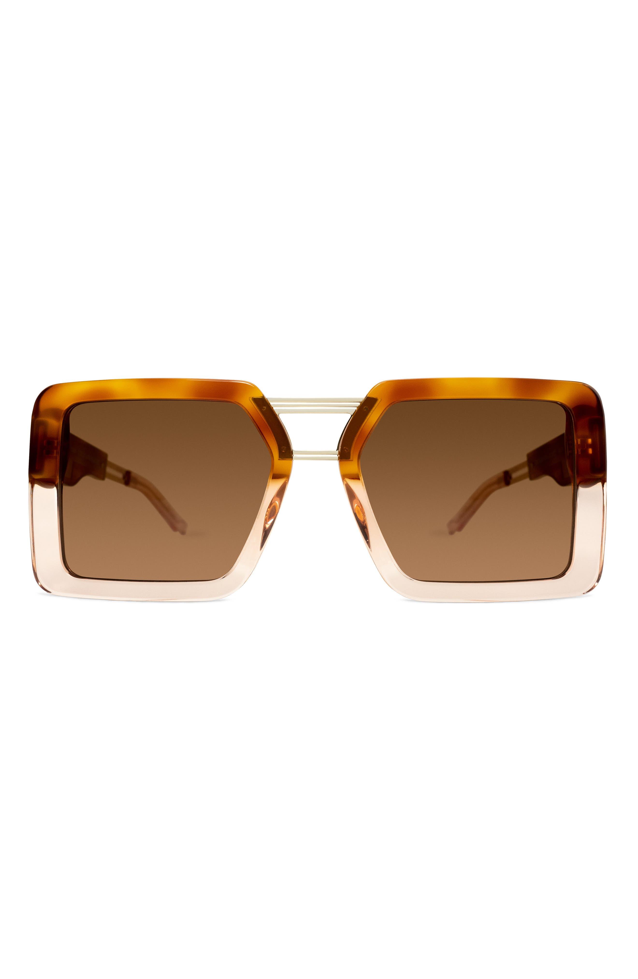 Amazonian 57mm Square Sunglasses