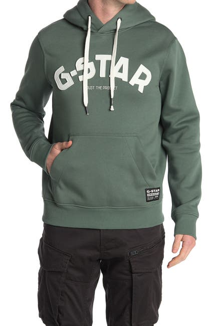 Image of G-STAR RAW Varsity Felt Drawstring Hoodie
