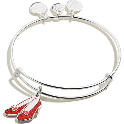 Alex And Ani Wizard Of Oz Glitter Ruby Slippers Expandable Wire Bangle