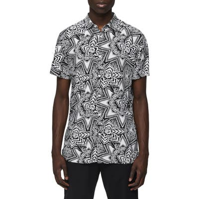 Selected Homme Vega Slim Fit Short Sleeve Button-Up Shirt, White