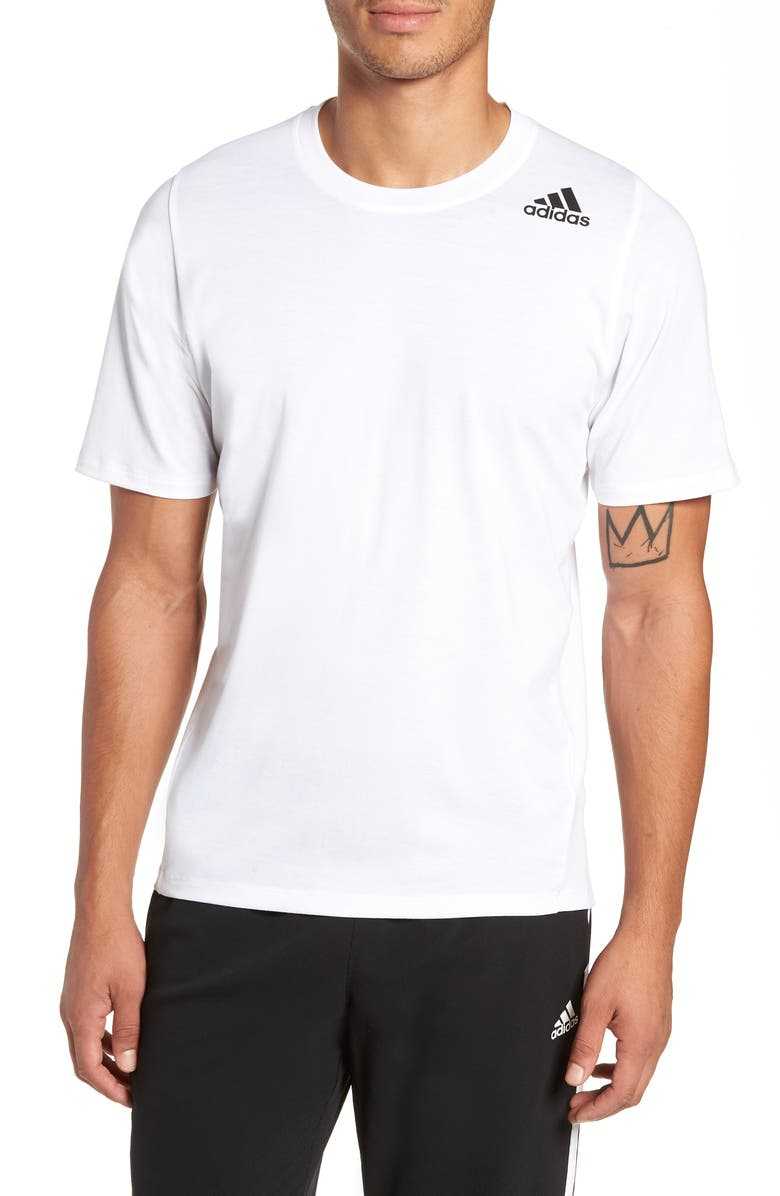 ADIDAS Technical Crewneck T-Shirt, Main, color, WHITE