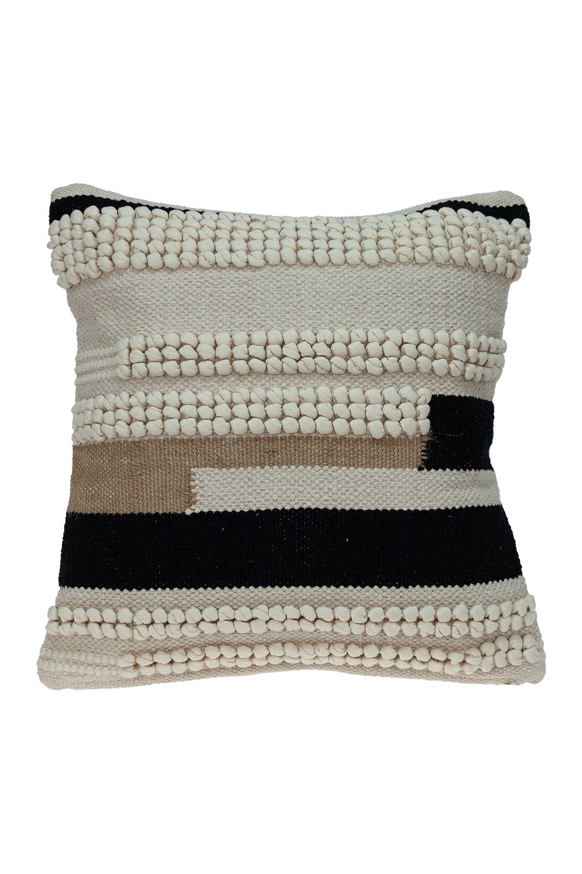 Image of Parkland Collection Maddox Transitional Ivory Throw Pillow