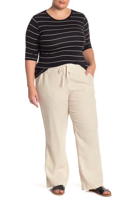 Image of Caslon Drawstring Waist Linen Blend Pants