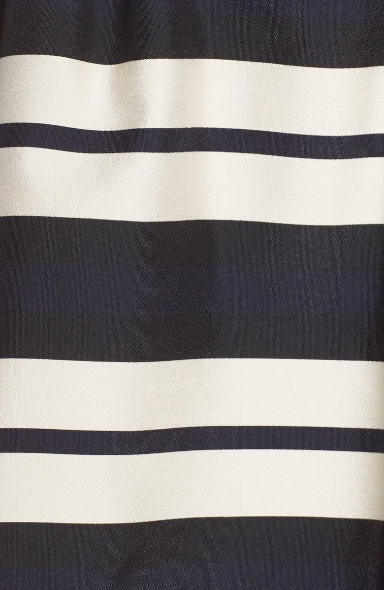 VINCE CAMUTO Stripe Organza Fit & Flare Dress, Main, color, 407