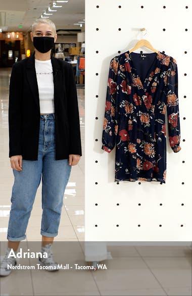 Floral Pretty Pretender Long Sleeve Minidress, sales video thumbnail