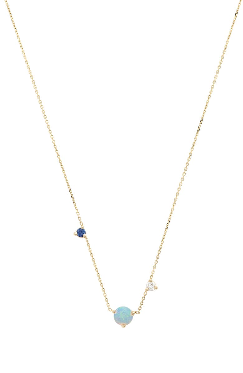 WWAKE Counting Collection Three-Step Necklace, Main, color, YELLOW GOLD