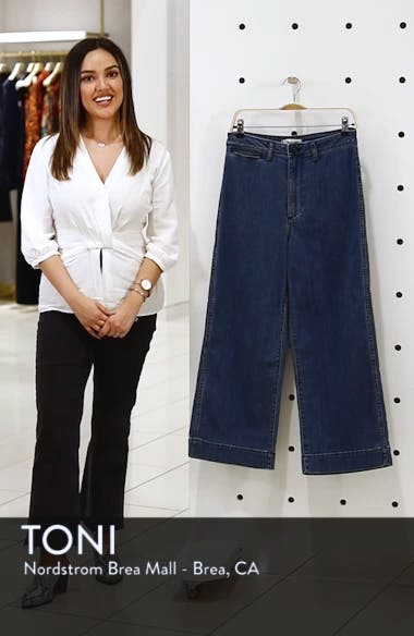 Emmett High Waist Crop Wide Leg Jeans, sales video thumbnail