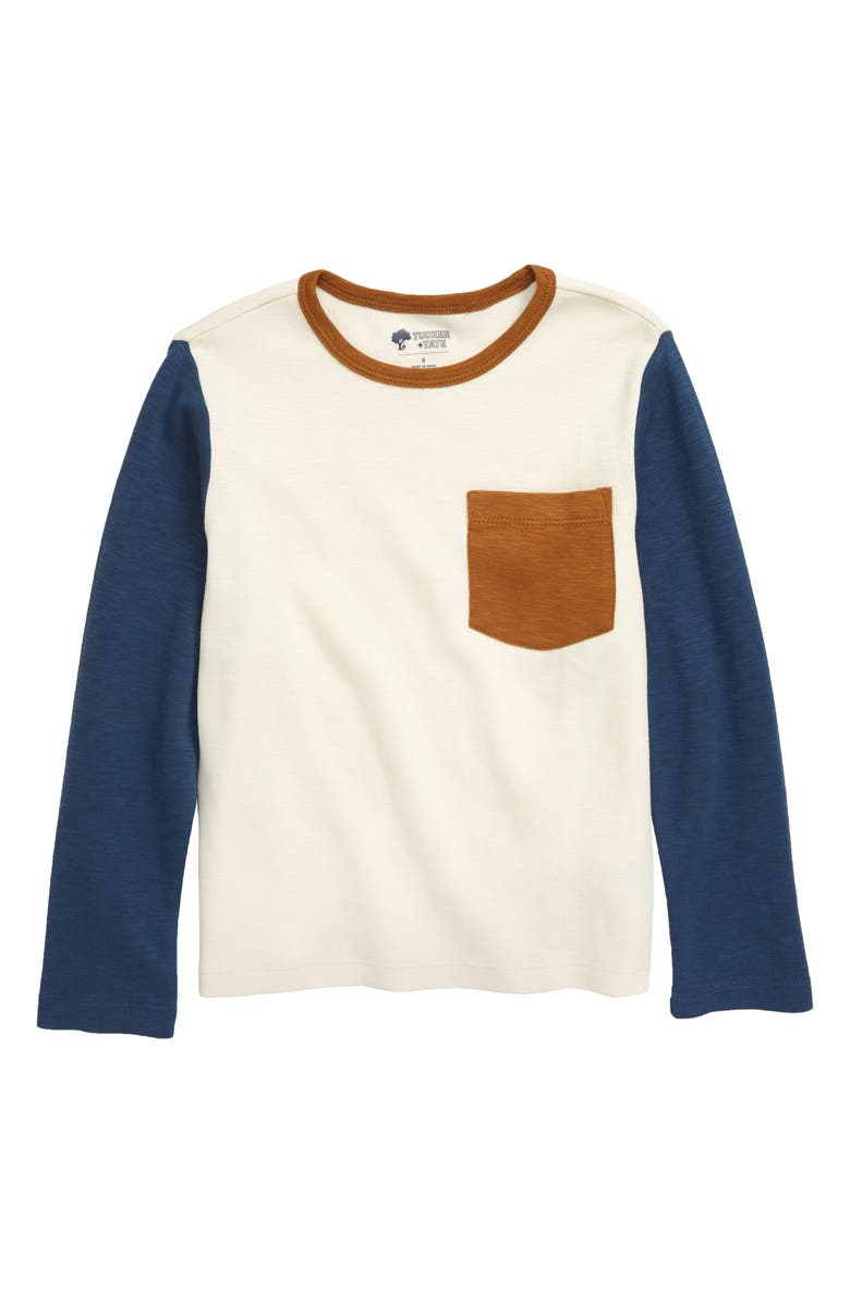 TUCKER + TATE Fording the River Color Block T-Shirt, Main, color, IVORY DOVE- NAVY