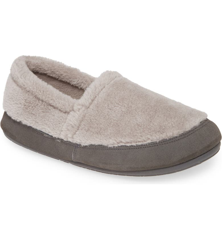 DANIEL GREEN Hailey Faux Fur Slipper, Main, color, GREY FABRIC